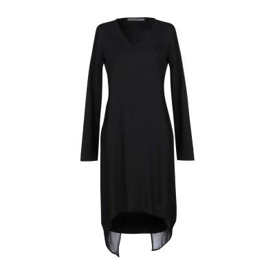 TRANSIT PAR-SUCH ミニワンピース&ドレス ブラック 1 レーヨン 58% / ウール 39% / ポリウレタン 3% ミニワンピース