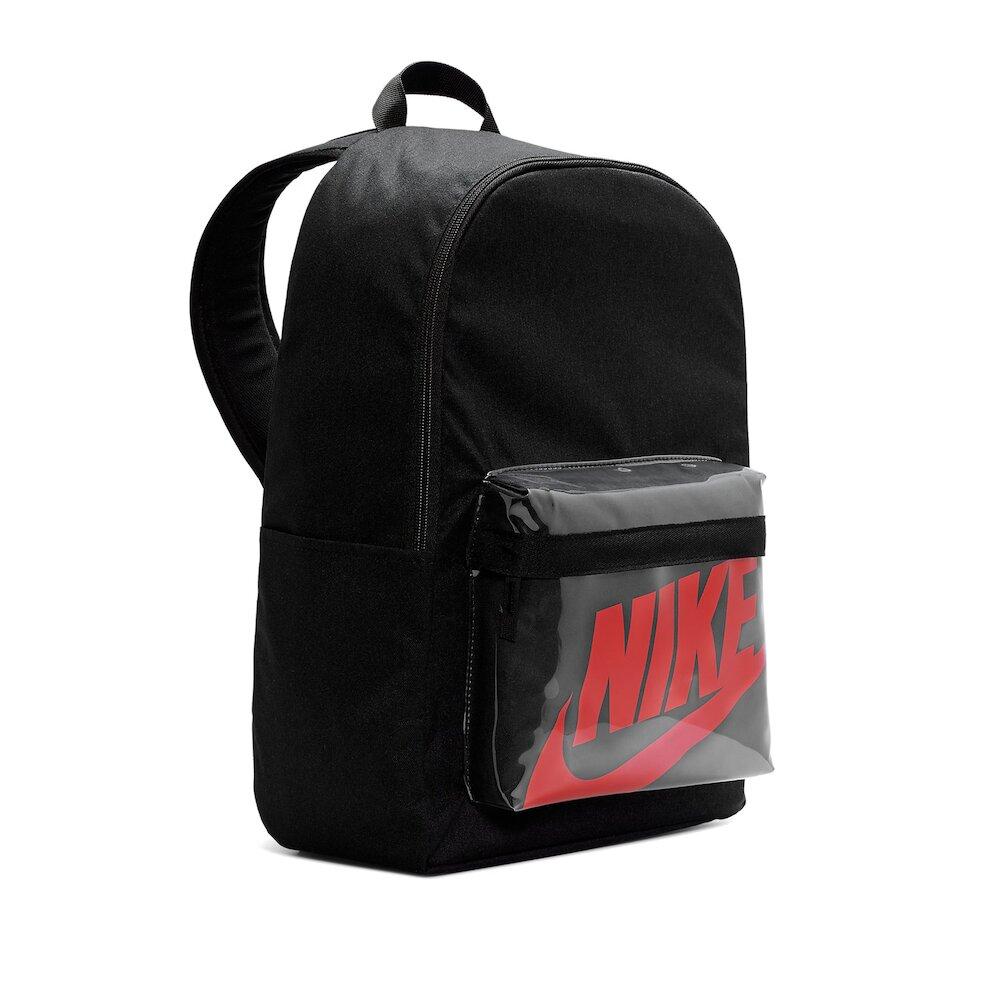 NIKE 後背包 Heritage 2 Backpack 運動休閒 雙肩背 透明格 上學 外出 黑 紅 [BA6175-010]