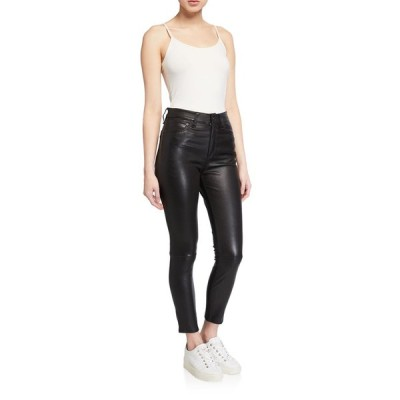ラグアンドボーン レディース カジュアルパンツ ボトムス Nina Leather High-Rise Pants