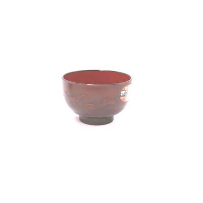 汁椀 うさぎ彫 3−165 レンジOK・洗浄器OK