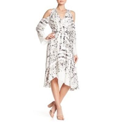 ビーシービージーマックスアズリア レディース ワンピース トップス Leeam Cold Shoulder Wrap Dress WHITE CO.