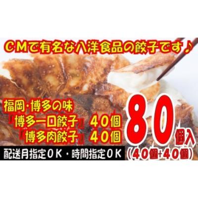 ZG19.福岡・博多の味『博多一口餃子』40個+『博多肉餃子』40個(計80個)