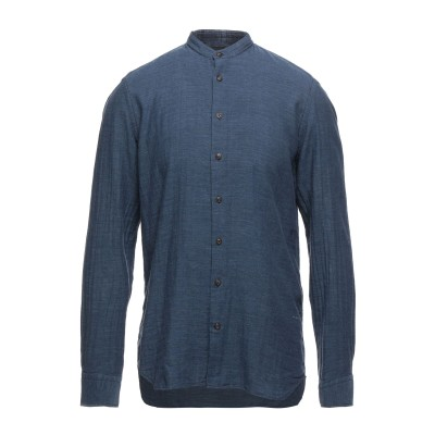 BALDESSARINI シャツ ダークブルー 39 ウール 100% シャツ