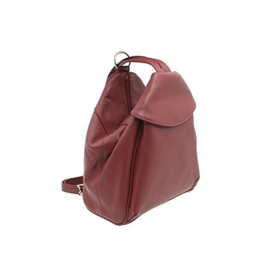 Visconti Leather Backpack Style 01721 Red 並行輸入品
