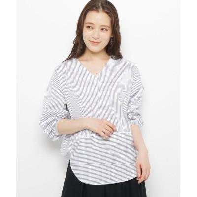 Modify(モディファイ) バックボリュームストライプシャツ