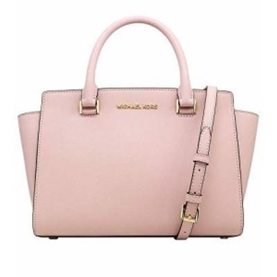 マイケルコース アメリカ 直輸入 Michael Kors Selma Saffiano Leather Medium Top Zip Satchel Bag (B
