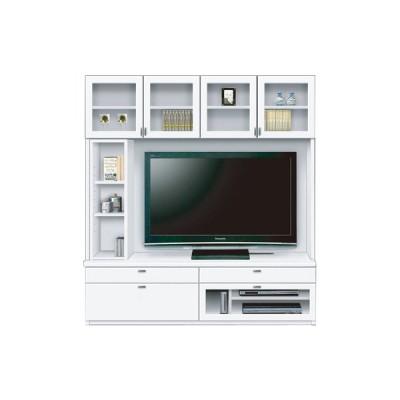 Vidaシリーズ_168TVボードA ガラス扉(WH)