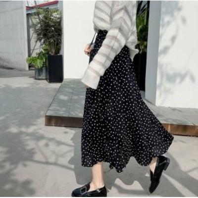 大きいサイズ ロングスカート ゆったり ロングスカート 春新作 春服 新作 ロングシフォンスカート ロングスカート シフォンスカート