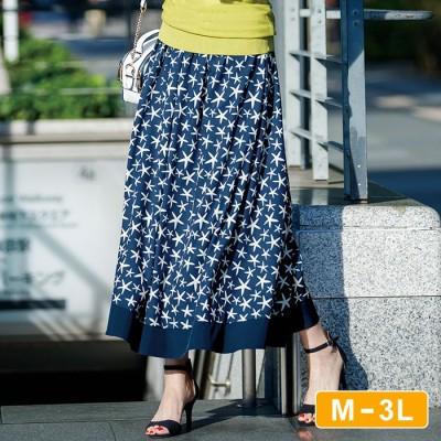 Ranan 【M~3L】プリント柄フレアースカート  M レディース