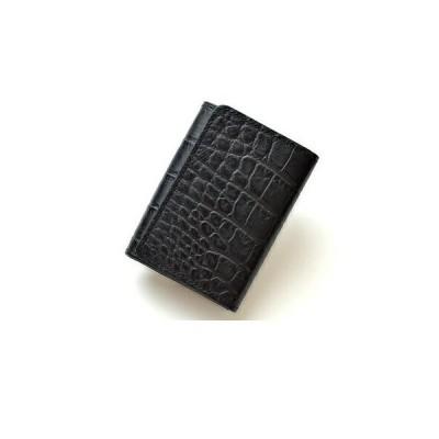 伊東屋 ROMEO クロコ型押し 三つ折り財布 RLC-22BK・箱無しでメール便発送