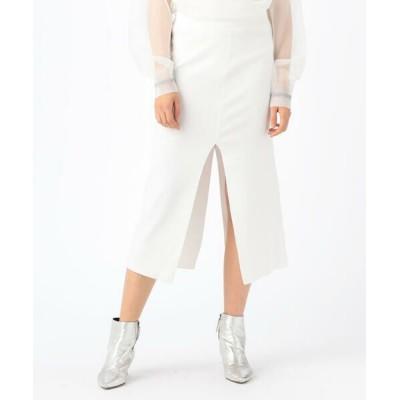 TOMORROWLAND/トゥモローランド SIMON MILLER コットン スリットミディスカート 11 ホワイト 2