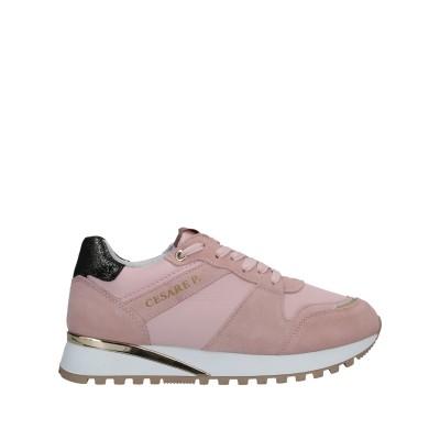 CESARE P. スニーカー&テニスシューズ(ローカット) ピンク 40 革 / 紡績繊維 スニーカー&テニスシューズ(ローカット)