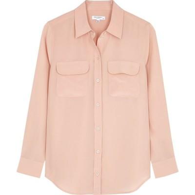 エキプモン Equipment レディース ブラウス・シャツ トップス Slim Signature blush silk shirt Nude