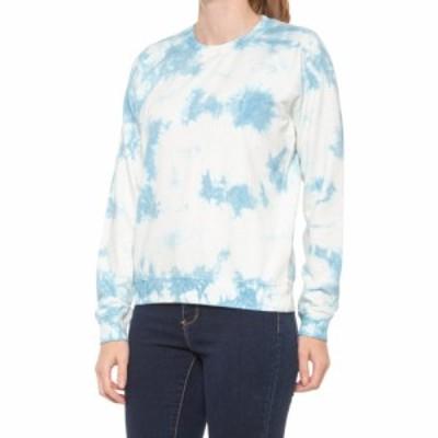 ラッキーブランド Lucky Brand レディース スウェット・トレーナー トップス Tie-Dye Sweatshirt Blue Multi