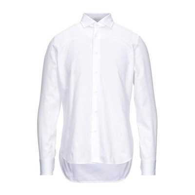 CALLISTO CAMPORA 無地シャツ  メンズファッション  トップス  シャツ、カジュアルシャツ  長袖 ホワイト