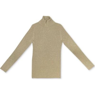 スタイル&コー Style & Co レディース ニット・セーター トップス Metallic Turtleneck Sweater Gold Metallic