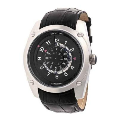 腕時計 ヘェリィタァ メンズ Heritor Daniels Automatic Black Dial Men's Watch HR7403