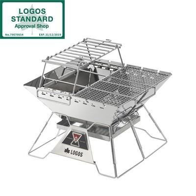 焚き火台 コンパクト 折りたたみ式 ロゴス LOGOS the ピラミッドTAKIBI L コンプリートNo.81064166 アウトドア キャンプ BBQ