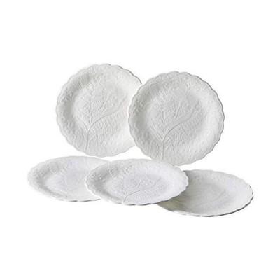 NARUMI(ナルミ) プレート 皿 セット ホニトン・レース ホワイト 17cm 5枚セット 電子レンジ温め 食洗機対応 51952-23177