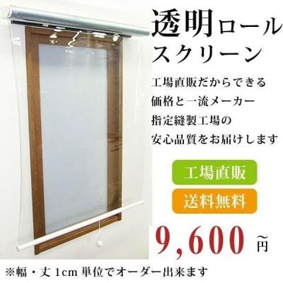 ロールスクリーン ロールカーテン オーダー 透明 塩化ビニール  幅41-80cm丈40-80cm