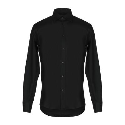 ダニエル アレッサンドリーニ DANIELE ALESSANDRINI シャツ ブラック 38 コットン 97% / ポリウレタン 3% シャツ