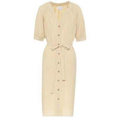 ベルベット グラハム&スペンサー Velvet レディース ワンピース ワンピース・ドレス Margaret cotton-blend dress Yellow
