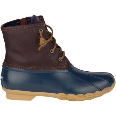 スペリートップサイダー Sperry Top-Sider レディース ブーツ シューズ・靴 Saltwater Waterproof Duck Boots Tan/Navy