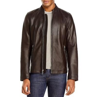 カール ラガーフェルド メンズ ジャケット・ブルゾン アウター Leather Moto Jacket