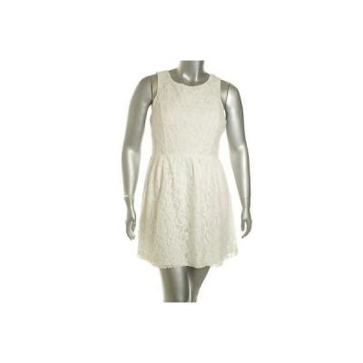 ケンジー ドレス ワンピース フォーマル Kensie レディース ドレス カジュアル L Dove ホワイト Eyelet レーヨン Original Regular LAFO
