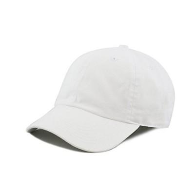 The Hat Depot Kids Washed Lowプロファイルコットンとデニムプレーンベースボールキャップ帽子 カラー: ホワイト