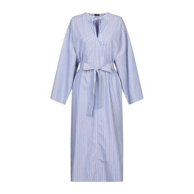 ジョゼフ JOSEPH 7分丈ワンピース・ドレス アジュールブルー 40 コットン 100% 7分丈ワンピース・ドレス