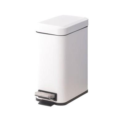 東谷 トラッシュカン 5L ペダル式 ごみ箱 ゴミ箱 ホワイト 四角(ホワイト)