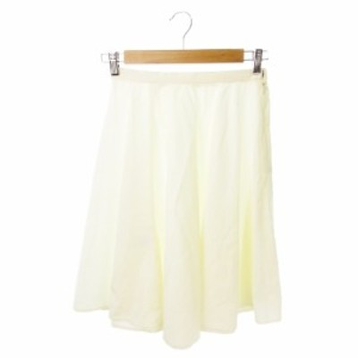 【中古】ボールジー BALLSEY トゥモローランド スカート フレア ひざ丈 ペチコート付 36 白 ホワイト /YH2 レディース