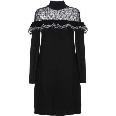 ANNA RACHELE ミニワンピース&ドレス ブラック XS ウール 47% / アクリル 45% / モヘヤ 5% / ナイロン 3% ミニワ