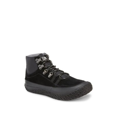 ハイブリッド グリーン ラベル メンズ スニーカー シューズ Trek Suede Mid Sneaker BLACK