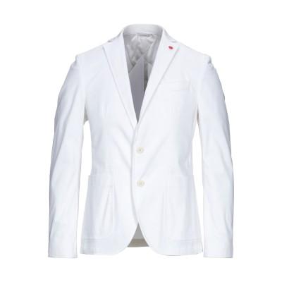 マニュエル リッツ MANUEL RITZ テーラードジャケット ホワイト 48 コットン 97% / ポリウレタン 3% テーラードジャケット