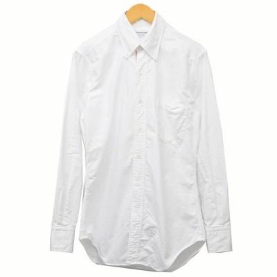 THOM BROWNE トリコロール ボタンダウンシャツ シャツ ホワイト サイズ:1 (三軒茶屋店) 210319