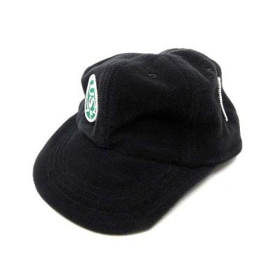 【中古】ユースターズクラブ U STARS CLUB フリース キャップ ワッペン スナップバック 帽子 ブラック 黒 メンズ 【ベクトル 古着】