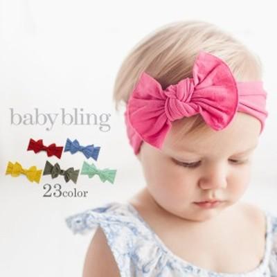 baby bling (ベビーブリング) ベビー ヘアバンド ヘッドバンド リボン カチューシャ クラシック ノット 赤ちゃん かわいい プレゼント