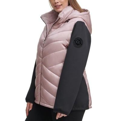 カルバンクライン ジャケット&ブルゾン アウター レディース Plus Size Hooded Jacket Metallic Bare