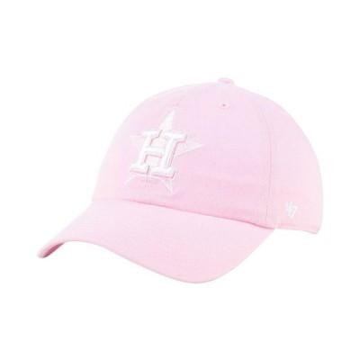 47ブランド レディース 帽子 アクセサリー Houston Astros Pink CLEAN UP Cap