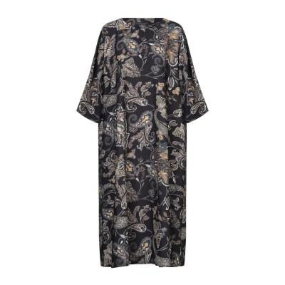SANDRO FERRONE 7分丈ワンピース・ドレス ブラック M ポリエステル 96% / ポリウレタン 4% 7分丈ワンピース・ドレス