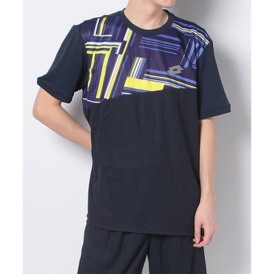 LOTTO (ロット) テニスゲームシャツ(ポリプロピレン) M NVY メンズ LO-S20-004-044