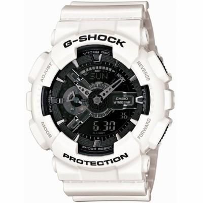 CASIO/カシオ G-SHOCK/ジーショック White and Black Series/ホワイト&ブラックシリーズ デジアナ ビッグケース GA-110GW-7AJF