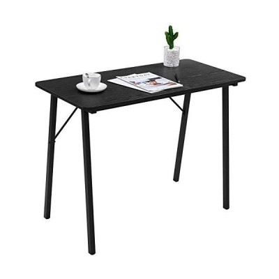 Simple Computer Desk Modern Wood Study Writing Table Small Industrial Home Office Work Desk with Metal Legs, 39.4 x 18.9 x 29.1 inch Kids De