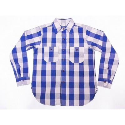 WAREHOUSE[ウエアハウス] ネルシャツ A柄 3104 フランネルシャツ FLANNEL SHIRTS バッファローチェック (ブルー)