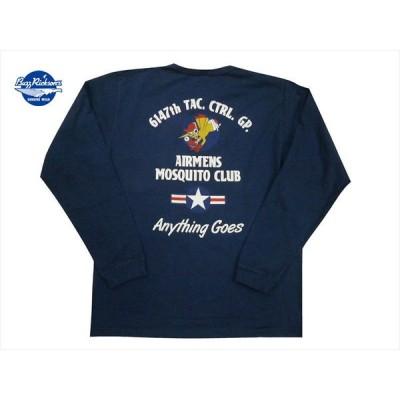 """バズリクソンズ/BUZZ RICKSON'S/東洋 長袖Tシャツ BR68635 """"モスキートクラブ/6147th TAC.CTRL.GP."""" ミリタリー・ロンT ネイビー"""