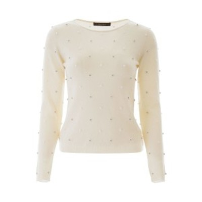 MAX MARA/マックス マーラ セーター BIANCO Max mara dolmen sweater with crystals and beads レディース DOLMEN ik
