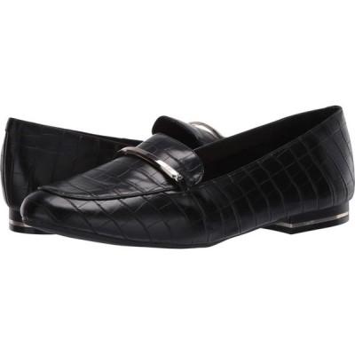 ケネス コール Kenneth Cole New York レディース ローファー・オックスフォード シューズ・靴 Balance Loafer Bar Black Embossed