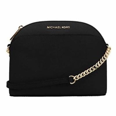 マイケルコース アメリカ 直輸入 Michael Kors Emmy Saffiano Leather Medium Crossbody Bag (Black Sa